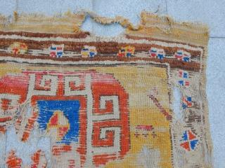 Antique Cappadocia Carpet Fragment size.90x110cm