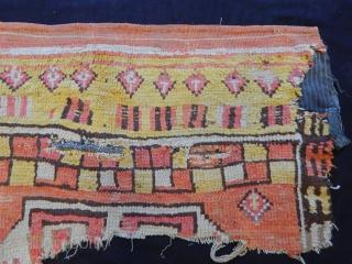 Antique Cappadocia Carpet Fragment  size.60x110cm