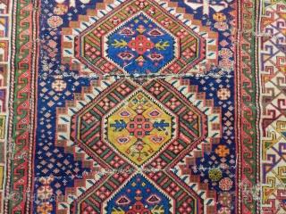 Old Caucasian Sehnezar Sirvan Carpet Fragment