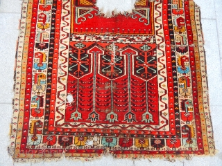 Old Anatolian Konya Ladık Prayer Carpet