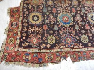 Antique Kuba Carpet Fragment size.245x260cm