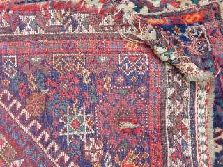 Old Qashqaii Bagface Carpet size.56x65cm
