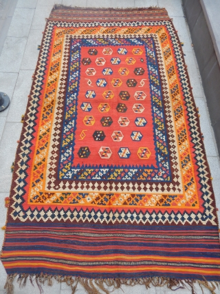 Old Qashqaii Kilim  size.273x155cm