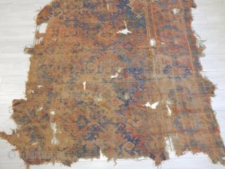 Antique Ushak Carpet Fragment