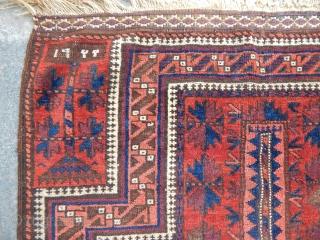 Old Baluch Prayer Carpet size.135x90cm