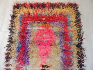 Art Angora Tulu, synthetic colors but great graphics and texture size.190x100cm