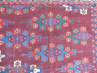 Old Turkmen Yamut Main Carpet