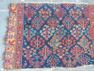 Old Veramin Carpet Fragment  size.65x105cm