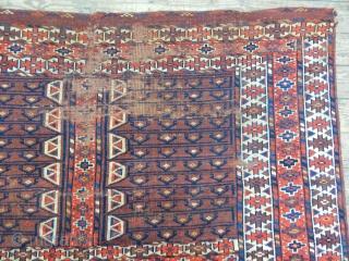 Turkmen Yamut Ensi Carpet size.145x138cm