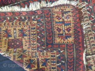 Antique Baluch Prayer Carpet size.95x83cm