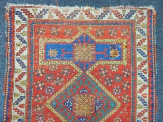 Antique  Caucasian Fahrola Carpet  size.115x87cm