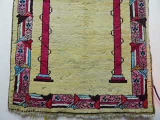 Central Anatolian Kırsehir Prayer Carpet size.165x95cm