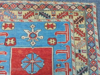Antique Karakaslı Sirvan Carpet size.145x100cm