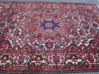 "nice bakhtiari(SOLD SOLD SOLD) rug great old design 6' 10"" x 10' original good condition be happy to answer any questions very reasonable price."