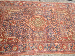 "antique esfahan rug 4 4"" x 6' 8"" good condition some wear solid rug no holes 785.00 plus shipping"