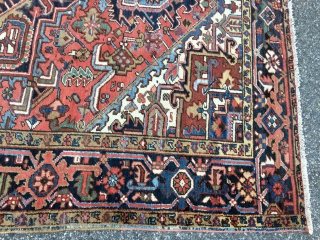 "Measures 6' 8"" x 10' excellent condition 985.00 plus shipping nice Heriz rug SOLD SOLD THANKS"