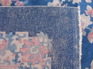 Antique Art Deco Chinese rug, hand knotted wool, China, ca.1930, this type is called Fette after Helen Fette who was a missionary in China, they were never very thick and plush, this  ...