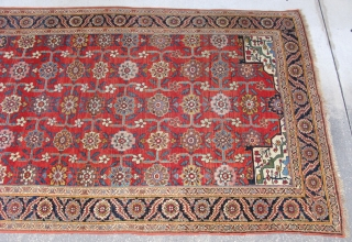 Antique Persian Bijar rug, ( Bidjar ), hand knotted wool on a wool foundation, Iran, ca. 1880, a hard to find gallery rug size approximately 5ft 7in x 13ft 4in, an all  ...