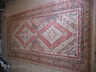 Khotan rug, hand knotted wool, ca.1920-30, Hotan Oasis of far Western China, Xinjiang Provence, Uyghur Autonomous Region, also know as Chinese Turkistan, hand knotted wool, semi-antique, the area is famous for producing  ...