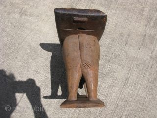 Vintage African wooden stool, hand carved from a single piece of wood, a seat for dignitaries, Ashanti People, Ghana, carved in the shape of an elephant, it has a wonderful smooth patina  ...