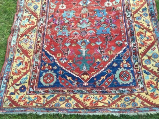 Lovely 19th century kula. Good condition. Strong colours especially yellow. 200 by 151 cm.