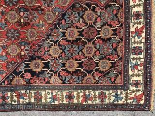 Late 19 century Minakhani design Bijar halvaii. 4.7 x 7.4 ( 123 x 225cm )