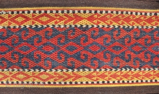 A beautiful 1900s Tent band probably Uzbek or Kyrgyz.  886cm x 38cm ( 29ft08in x 1ft25in )