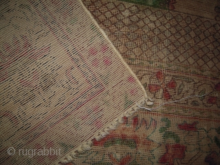 Old Prayer Rug  Worn
