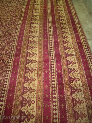 Circa 1875 British Raj Lahore Agra Carpet 9 metre x 9 metre
