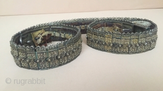 Central-Asia Antique Caucasian Belt with old leather fire gilded beautifull desing Excellent condition ! Circa-1850-1900 Size : ''94cm x 3.5cm'' - Weight : 1053 gr Thank you for visiting my rugrabbit store!