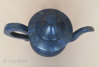 Central-Asia Afghanistan Lapis Luzely teapot decorative and accessories very fine handcrafted Great condition ! Size - Height : 22 cm - Width : 25 cm Thank you for visiting my rugrabbit store  ...