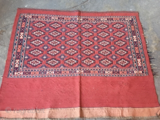 Antique Turkmen very fine condition kilim-rug Chuval all naturel colors. Late-19th century.Size : ''155cm x 93cm'' Thank you for visiting my rugrabbit store !