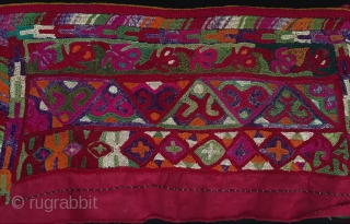 Central-Asia A pair Turkmen embroidery silk oversleeve very fine condition Late-19th ''41cm x 21cm'' Thank you for visiting my rugrabbit store!