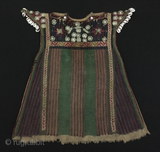 Central-Asia Antique Turkmen children kyrlyk custom original traditional silver dress Great condition ! Circa - 1900 Size - Lenght : 109 cm - Height : 54 cm - Width : 50 cm  ...