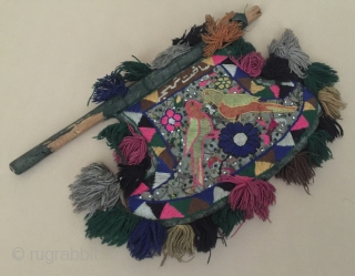 Central-Asia Afghanistan ethnic traditional pair of bird handcrafted fun with wooden 