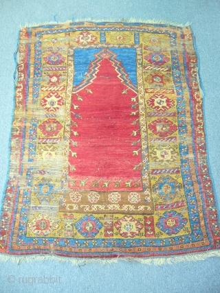 central anatolian prayer rug size:155x115