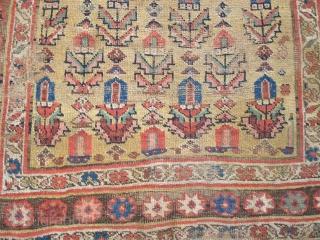 Kurd Bidjar long rug with good color and decent age.