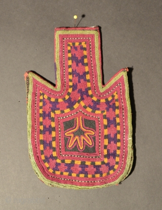 Baluch Embroidered Bag, Silk/Cotton, 20th Century, 8 x 5 inches