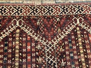 Rare antique Kizil Ayak double niche rug mid 19 c size 159 x 110 cm