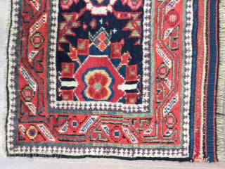 Super Mina khani Kurdish pile mafrash panel 1850-60 size 115 x 50 cm glorious colours few old repairs needs a clean