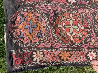 Uzbek tent decoration signed and dated 1969/70 ! Looks like 1920 s.   Good condition few small stains to plain areas