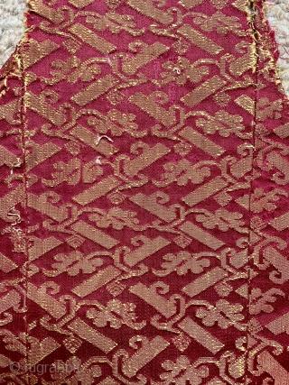 16/17 c Italian brocade fragment