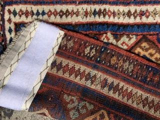 Antique jaf bag with thick pile ex Erblich collection.   Great colours ca 1880