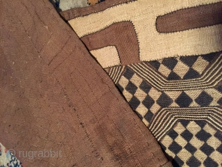 Let's dance !  An interesting ceremonial dance skirt from Congo (previously Zaire) Made from 4 squares joined with excellent precision. The appliqué work at one end has been made and incorporated  at the  ...