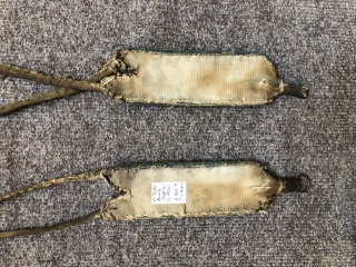 Interesting pair of Tibetan animal trappings ca 1920 s All original fastenings and backing.