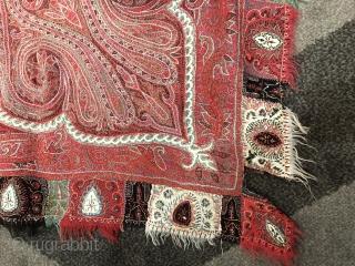 Embroidered Kashmir shawl India 19 c