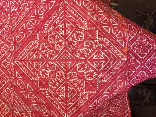 Large antique Moroccan Fez bolster cover 3 x 4 feet