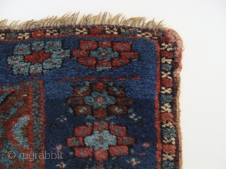 See better full picture within! A simply beautiful, very fine and early Jaff bag face. Elegantly drawn and nicely proportioned with a large midnight blue border containing floating stars. Deep saturated colors  ...
