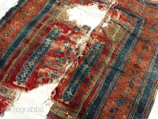 Unusual Anatolian Prayer Rug Fragment- Yuruk or Not Yuruk! That is the question.