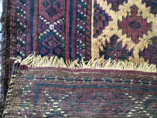 I believe this Baluch Balisht may have all or mostly silk pile. It very well may have silk weftting also. It extremely fine, much finer then what the picture of the weave  ...